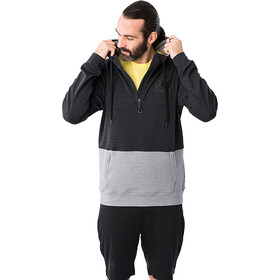 super.natural Movement Hættetrøje m. 1/2 lynlås Herrer, sort/grå